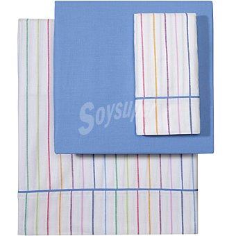 CASACTUAL Rainbow juego de sábanas Rayas cama 90 cm