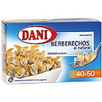 Dani Berberechos al natural 40/50 piezas 58 g peso escurrido