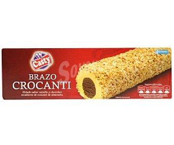 Casty Brazo Helado Crocanti (vainilla y Chocolate recubierto de Almendras) 800 Mililitros