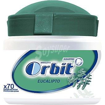 Orbit Chicles de eucalipto sin azúcar Box 70 grageas Envase 98 g