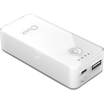 QUICK-MEDIA PB25 Batería externa para dispositivos portátiles con microusb y conector Lightning