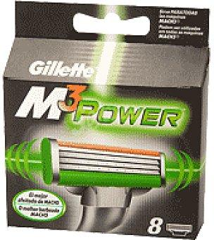 Gillette Mach3 Recambio power 8 ud