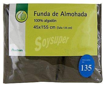 Productos Económicos Alcampo Funda de almohada, color gris piedra, 135 centímetros 1 Unidad
