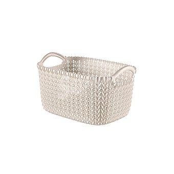 Curver Cesta de ordenación de Plástico knit 14 x 25 x 17 cm - Arena 1 ud