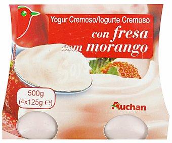 Auchan Yogur Cremoso Natural Azucarado 4x125g