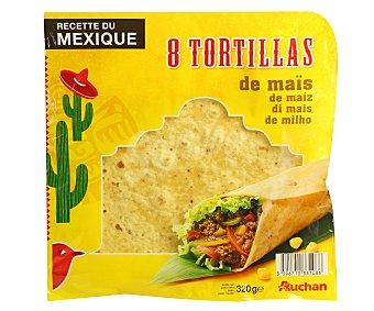 Auchan Tortillas de maíz Bolsa 320 grs (8 u)