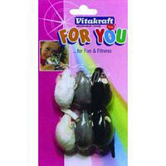 For You Vitakraft Ratones de felpa para gato Bolsa 6 unid