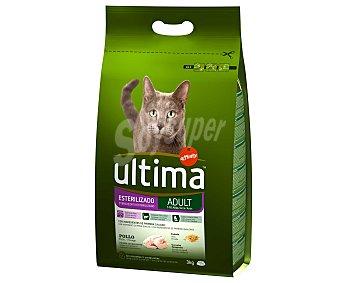 Ultima Affinity Alimento completo con pollo especial para gatos esterilizados 3 Kilogramos