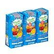 Frutas+leche mediterraneo (brick azul) 3 x 330 ml Hacendado