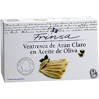 Frinsa Ventresca de atún claro en aceite de oliva elaborado en las rías gallegas Lata 73 g neto escurrido