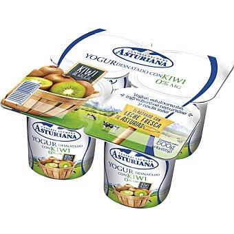 Central Lechera Asturiana Yogur desnatado con kiwi Pack 4 unidades 125 g
