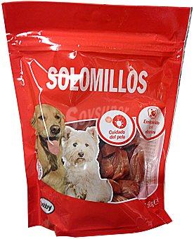 BOBBY Comida perro snack solomillos (con vitaminas y botina para cuidado del pelo) PAQUETE 150 g