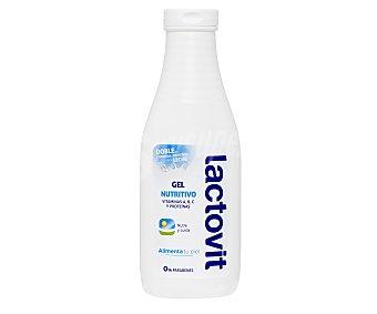 LACTOVIT gel de baño nutritivo con doble de vitaminas y proteínas de la leche bote 600 ml