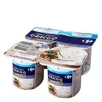 Carrefour Yogur griego con frutos secos Pack de 4x125 g