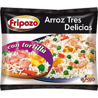 Fripozo Arroz tres delicias con tortilla sin gluten Bolsa 500 g