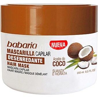 Babaria Mascarilla capilar desenredante de aceite de coco tarro 250 ml