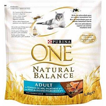 One Purina Alimento especial para gatos de pescado del océano con trigo y avena Natural Balance Adult Paquete 1,5 kg