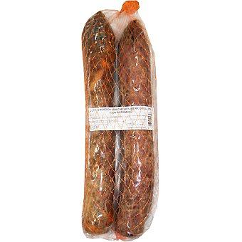 DON SATURNINO Lote de chorizo y salchichón ibéricos de bellota Salamanca 2 piezas 850g aprox. cada una envase 1,7 kg aprox. 850g