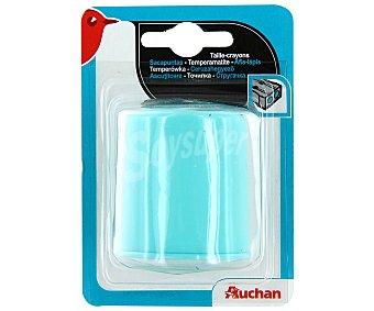 Auchan Sacapuntas de Plástico con 2 Agujeros y Depósito 1 Unidad