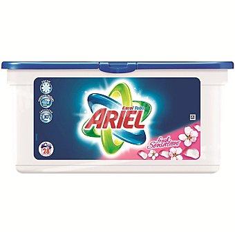 Ariel Detergente máquina líquido EXCEL TABS Sensaciones  envase 28 capsulas Envase 28 capsulas