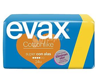 Evax Compresa super con alas Paquete 24 unid