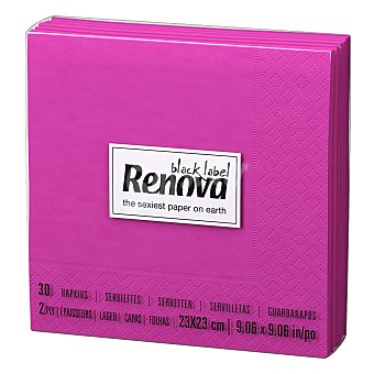 Renova Servilleta doble capa de papel Cocktail 30 unid fucsia 1ud