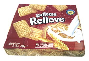 Hacendado Galleta relieve Paquete 860 g