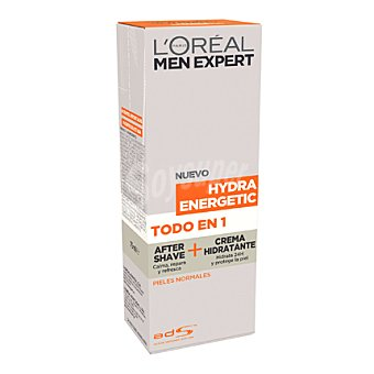 Men Expert L'Oréal Paris After shave + crema hidratante Hydra Energetic para pieles normales 75 ml