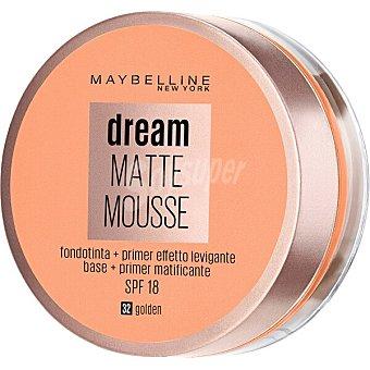 Maybelline New York Base de maquillaje Dream Matte Mousse 32 Dorado