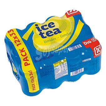 DIA Refresco de te al limón pack 12 latas 33 cl