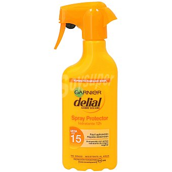 Delial Garnier Locion solar ultra hidratante FP-15 resistente al agua pistola 300 ml