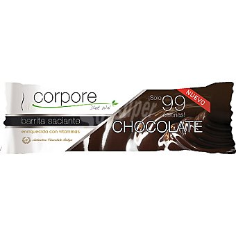 CORPORE DIET Barrita saciante de sabor chocolate enriquecidas con vitaminas envase 20 g Envase 20 g