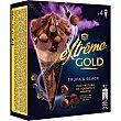 Gold cono de helado sabor a trufa con salsa de cacao Caja 4 u x 120 ml Extrême Nestlé
