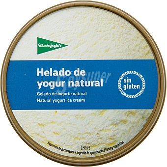 El Corte Inglés helado de yogur natural sin gluten tarrina 500 ml