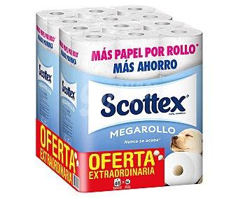 SCOTTEX MEGARROLLO Papel higiénico 48 unidades