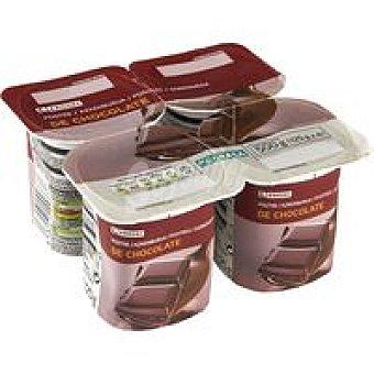 Eroski Postre sabor chocolate Pack 4x125 g