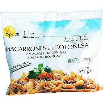 Special Line Macarrones a la boloñesa sin gluten Envase 275 g