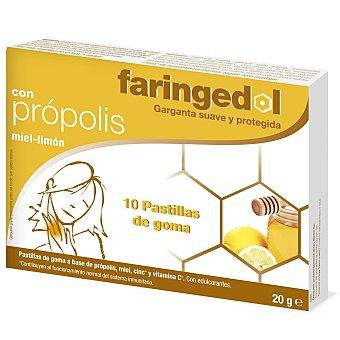 Faringedol Pastillas de goma a base de própolis, miel y vitamina C, garganta suave y protegida 10 uds