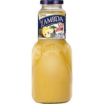 LAMBDA Sin Azucar nectar de pera y piña  botella 1 l