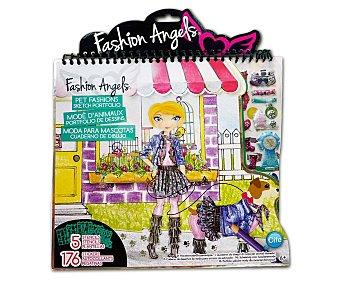 Cife Cuaderno con 5 plantillas y 176 adhesivos, para que juegues a ser diseñadora de moda de mascotas 1 unidad