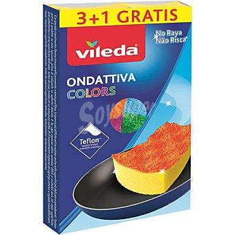 Vileda Colors estropajo fibra con esponja envase 3 unidades Envase 3 unidades