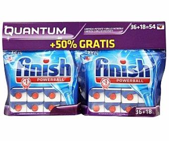Finish Lavavajillas Concentrado Quantum 36 + 18 Unidades