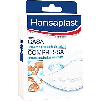 Hansaplast Gasas suaves para pieles sensibles Caja 10 unidades