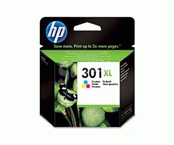 HP Cartuchos de Tinta 301XL Color HP (CH564E) 1 Unidad- Compatible con: HP Deskjet 1050, HP Deskjet 2050, 1 Unidad