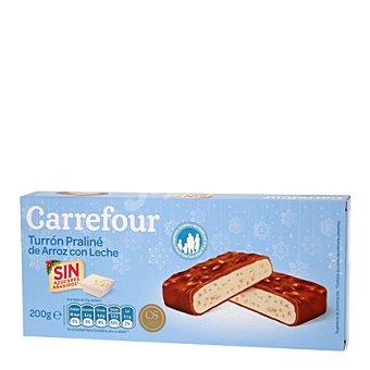 Carrefour Turrón de arroz con leche sin azúcar 200 g