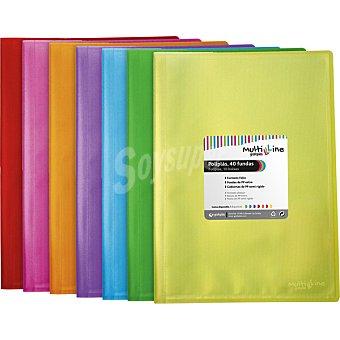 HIPERCOR 00774099 Carpeta con 40 fundas A4 en color surtido