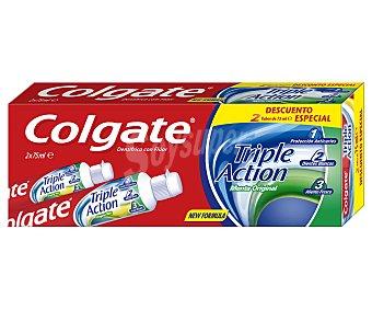 Colgate Dentífrico triple acción Pack 2 x 75 ml
