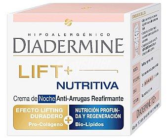 Diadermine Crema antiarrugas nutritiva doble acción noche reafirmante Tarro 50 ml