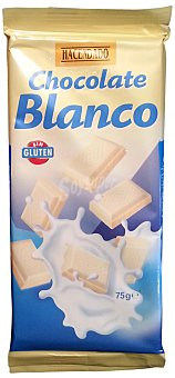 Hacendado Chocolate blanco Pack de 2x75 g