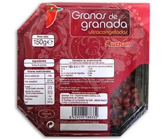 AUCHAN Grano congelado de granada 150 Gramos